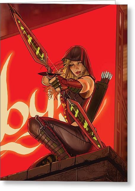 Robyn Hood Wanted 01b Greeting Card by Zenescope Entertainment