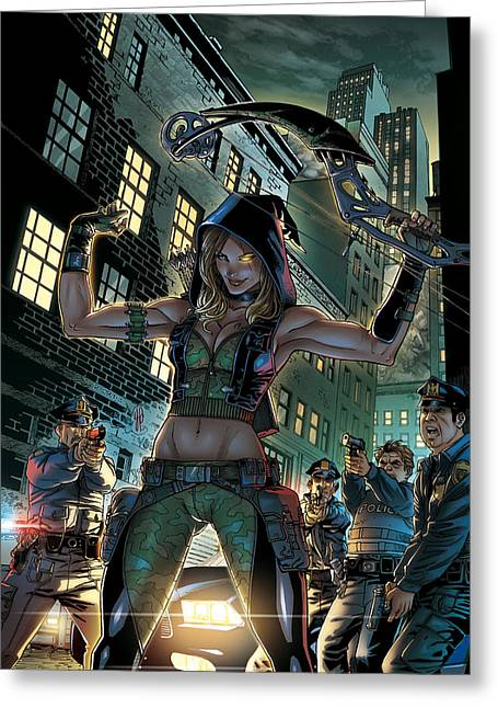 Robyn Hood Wanted 02a Greeting Card by Zenescope Entertainment