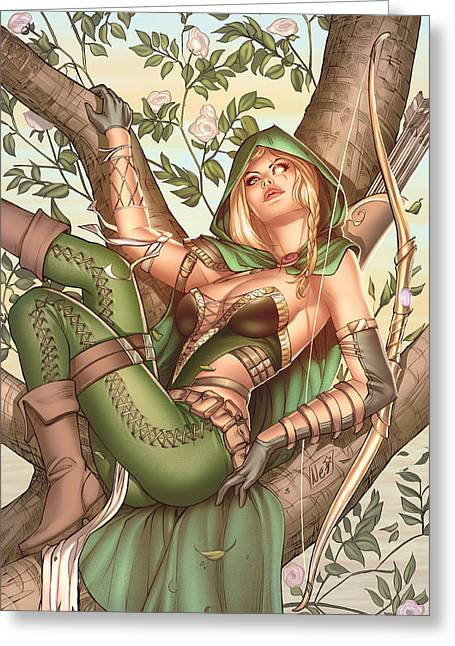 Robyn Hood Wanted 05c Greeting Card by Zenescope Entertainment