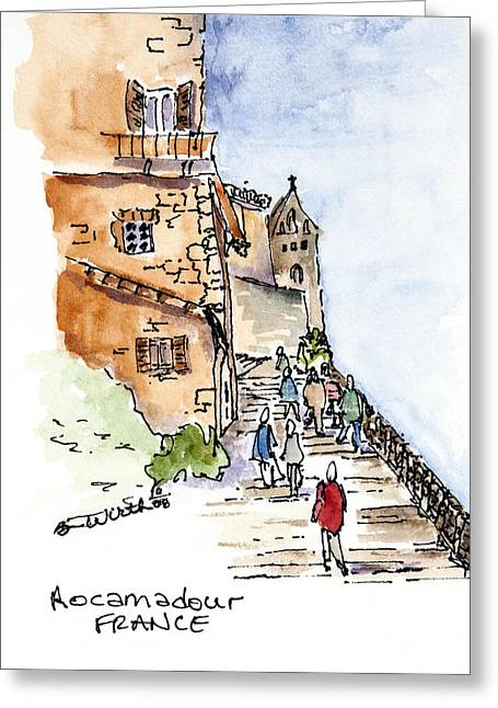 Rocamadour  Greeting Card by Barbara Wirth