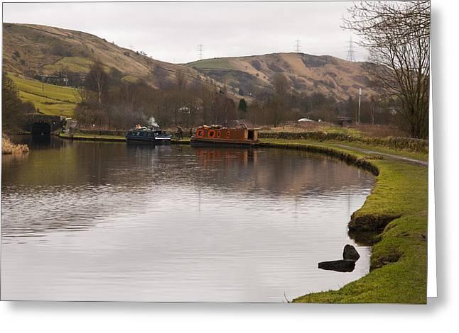 Rochdale Canal Near Walsden Greeting Card