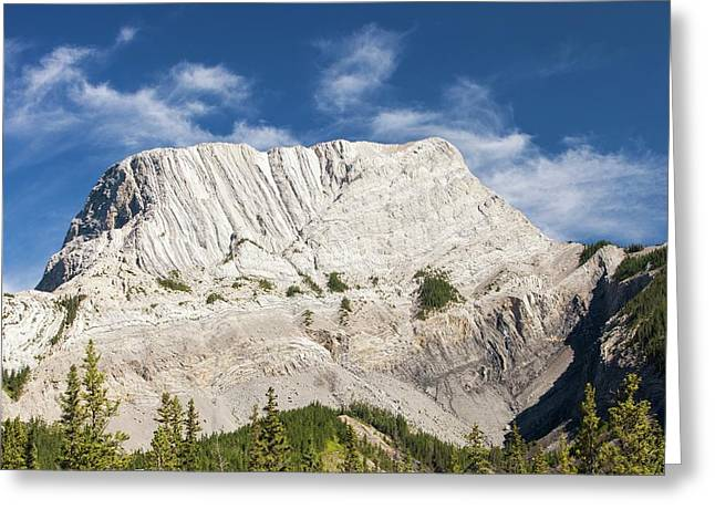 Roche Miette In The Canadian Rockies Greeting Card by Ashley Cooper