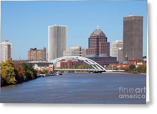 Rochester New York Skyline Greeting Card by Bill Cobb
