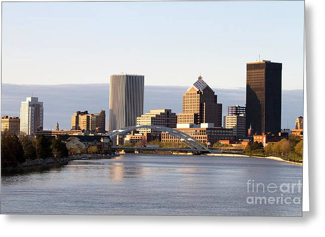 Rochester New York Skyline Greeting Card