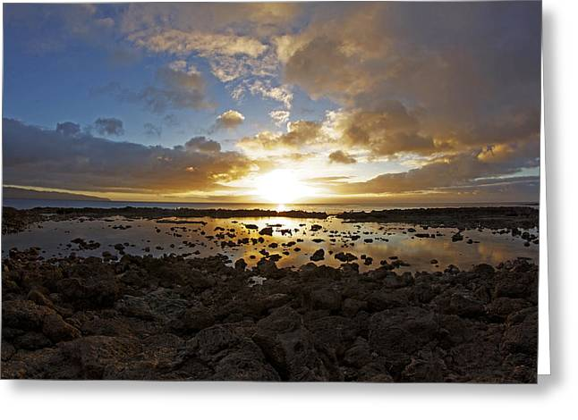 Rock And Reflections Greeting Card by Brian Governale