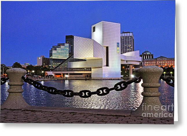 Greeting Card featuring the photograph Rock And Roll Hall Of Fame - Cleveland Ohio - 1 by Mark Madere
