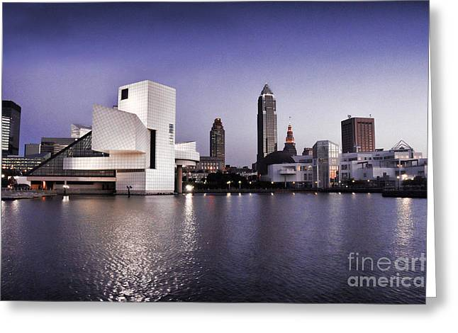 Greeting Card featuring the photograph Rock And Roll Hall Of Fame - Cleveland Ohio - 2 by Mark Madere