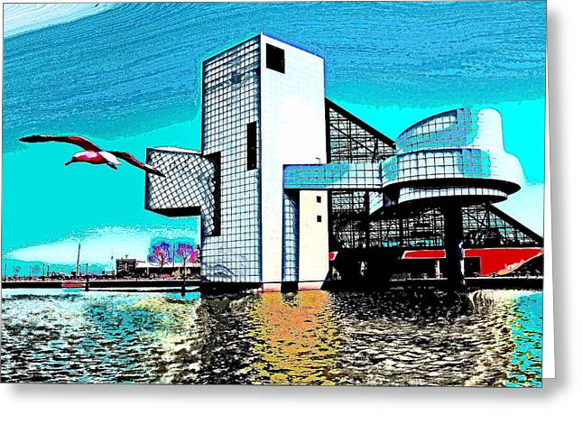 Greeting Card featuring the photograph Rock And Roll Hall Of Fame - Cleveland Ohio - 4 by Mark Madere