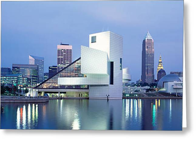 Rock And Roll Hall Of Fame, Cleveland Greeting Card by Panoramic Images