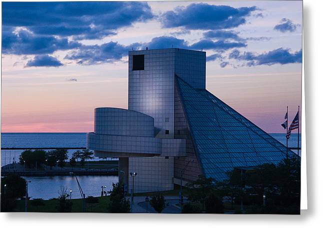Rock And Roll Hall Of Fame Greeting Card by Dale Kincaid