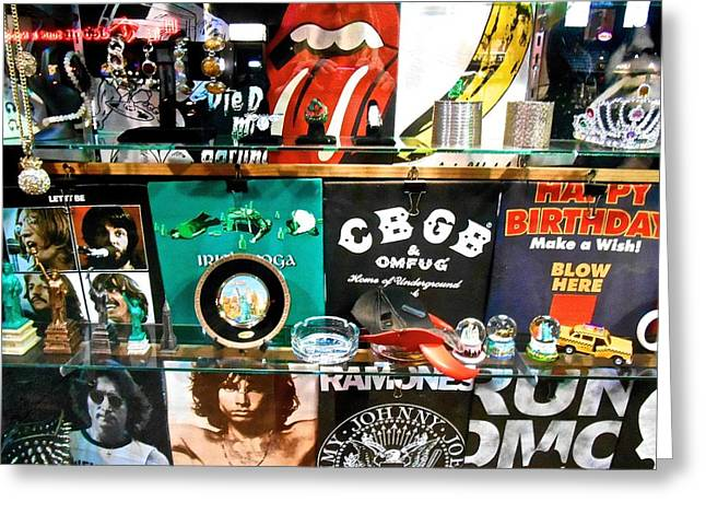 Rock And Roll On St. Marks   Nyc Greeting Card