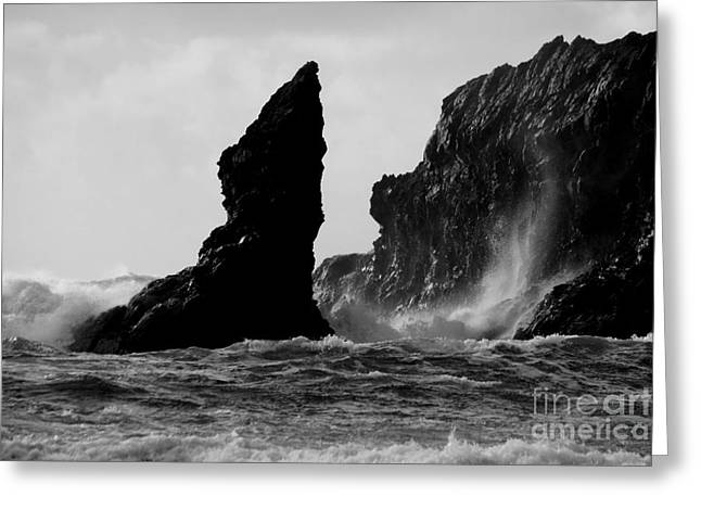 Rock And Wave Greeting Card by Deena Otterstetter