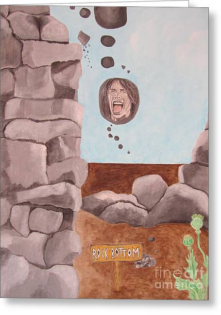Rock Bottom Greeting Card by Jeepee Aero