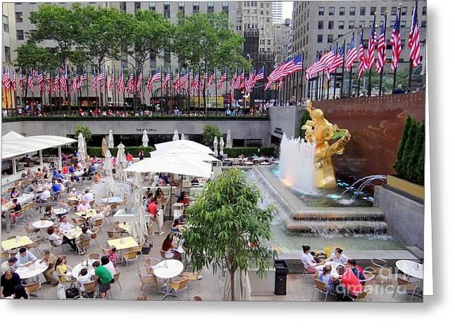 Rock Center Fourth Greeting Card by Ed Weidman