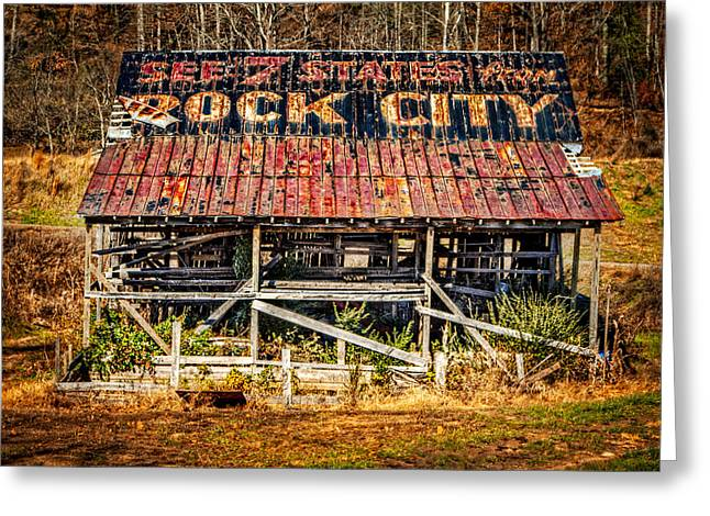 Rock City Greeting Card by Debra and Dave Vanderlaan