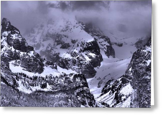 Grand Teton Mountains In Winter Greeting Card by Dan Sproul