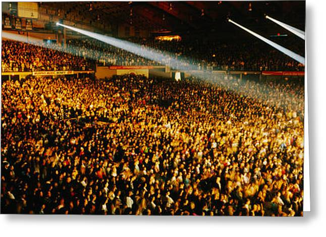 Rock Concert Interior Chicago Il Usa Greeting Card by Panoramic Images