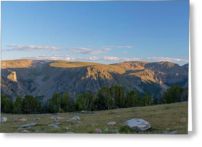 Rock Creek Valley Towards Beartooth Greeting Card by Panoramic Images