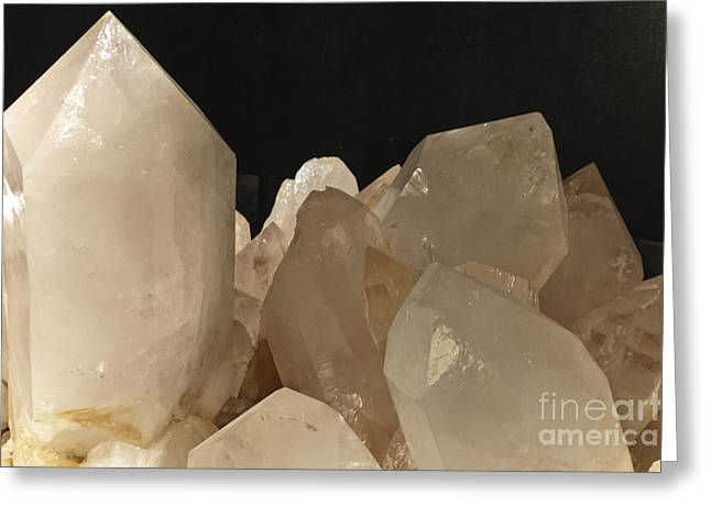 Rock Crystals Greeting Card by Heiko Koehrer-Wagner