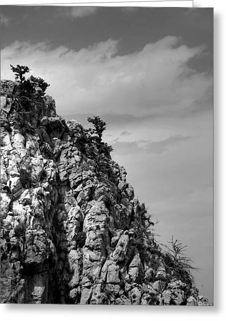 Greeting Card featuring the photograph Rock Face At St. Hillarion by Jim Vance