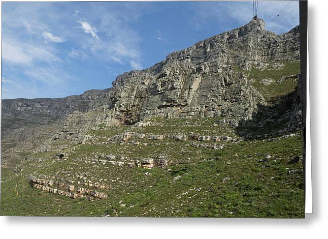 Rock Face Of Table Mountain National Greeting Card