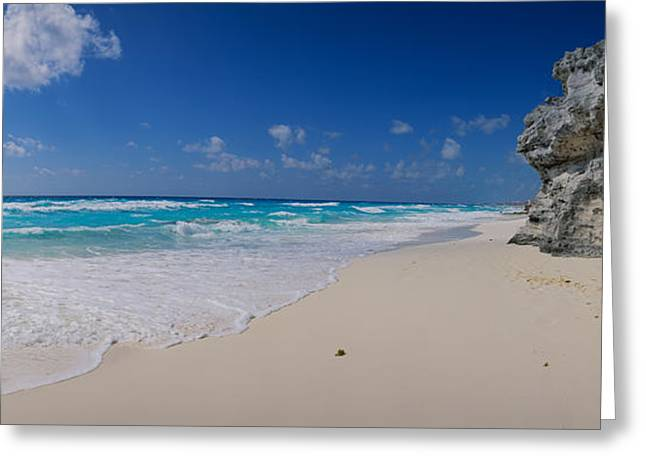 Rock Formation On The Coast, Cancun Greeting Card