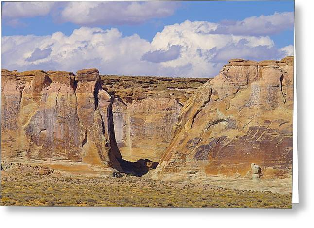 Rock Formations At Capital Reef Greeting Card by Jeff Swan