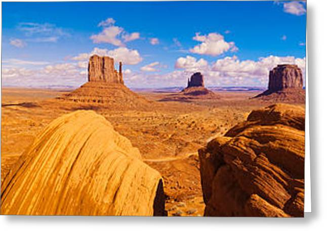 Rock Formations At Monument Valley Greeting Card by Panoramic Images