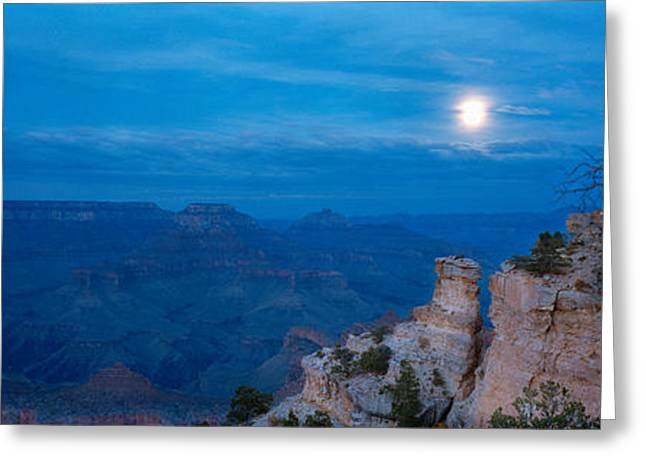 Rock Formations At Night, Yaki Point Greeting Card