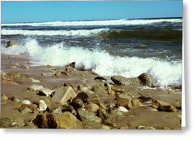 Rock Formations At The Coast, Montauk Greeting Card