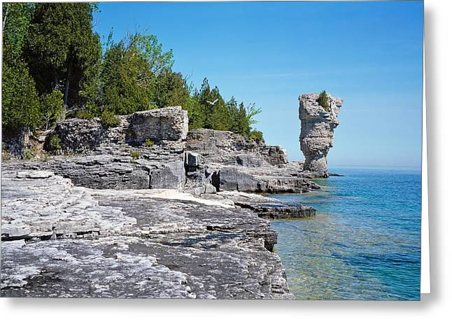Rock Formations, Bruce Peninsula Greeting Card by Panoramic Images