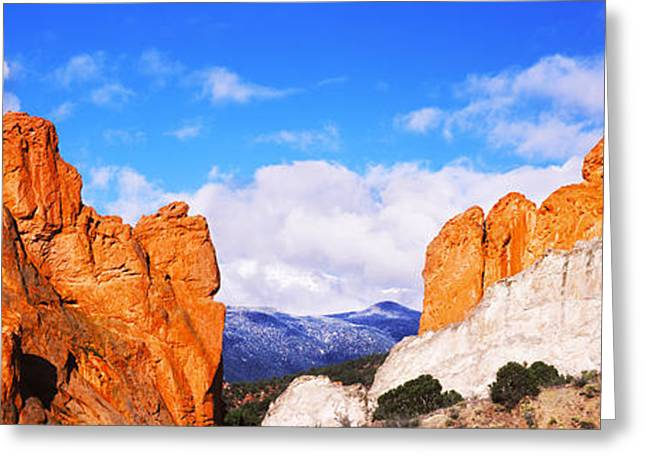 Rock Formations, Garden Of The Gods Greeting Card by Panoramic Images