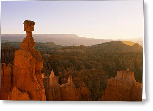 Rock Formations In A Canyon, Thors Greeting Card by Panoramic Images