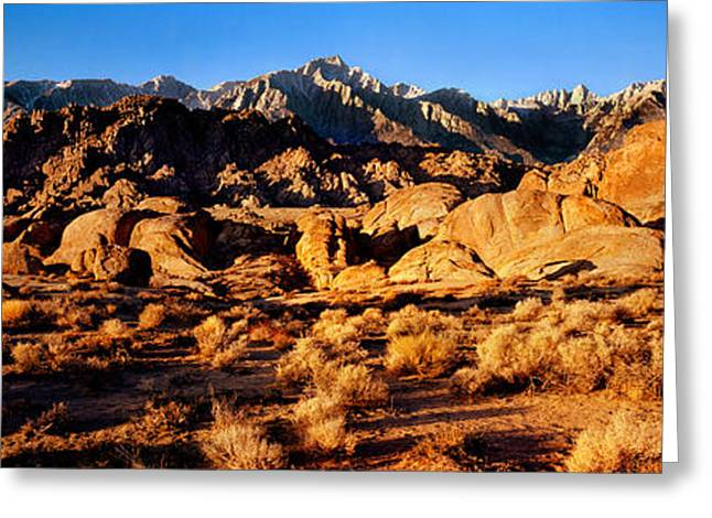 Rock Formations In A Desert, Alabama Greeting Card