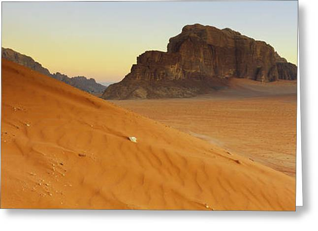 Rock Formations In A Desert, Jebel Greeting Card by Panoramic Images