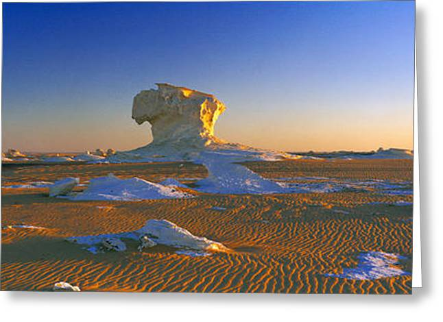 Rock Formations In A Desert, White Greeting Card