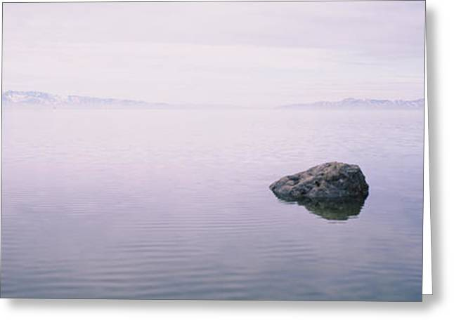 Rock Formations In A Lake, Great Salt Greeting Card by Panoramic Images