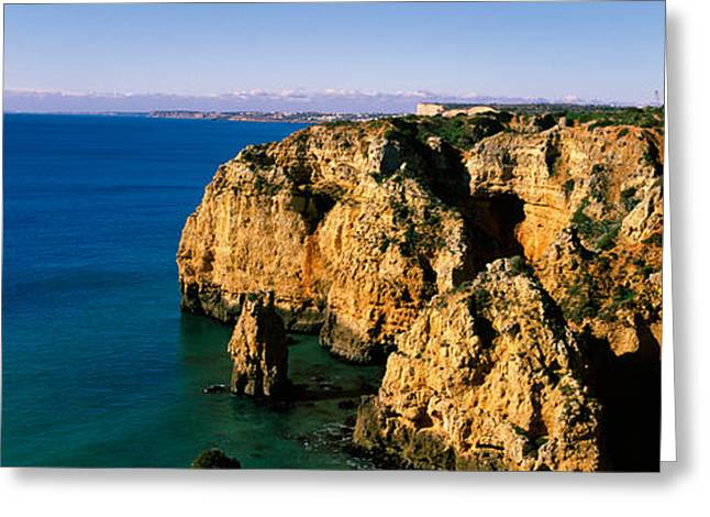 Rock Formations In The Ocean, Lagos Greeting Card by Panoramic Images