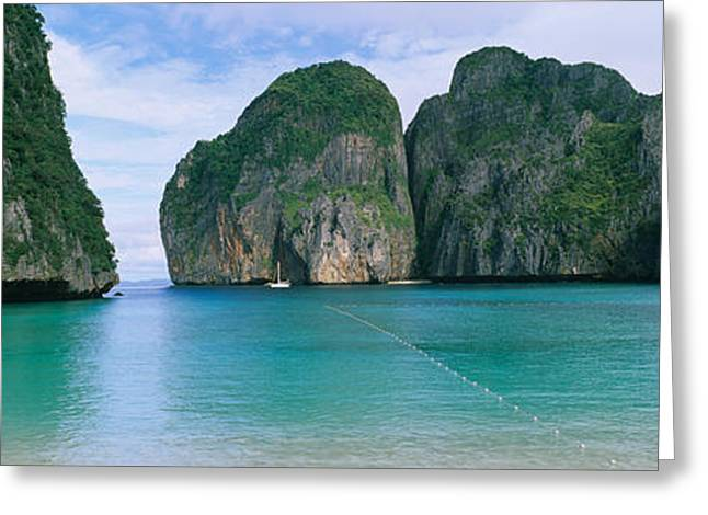 Rock Formations In The Ocean, Mahya Greeting Card by Panoramic Images