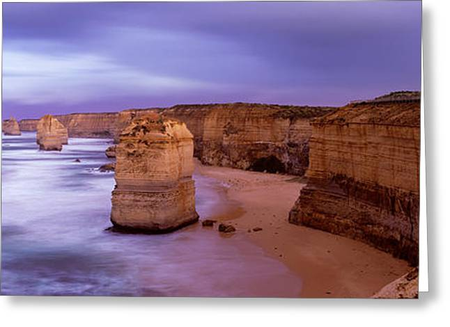 Rock Formations In The Sea, Twelve Greeting Card by Panoramic Images