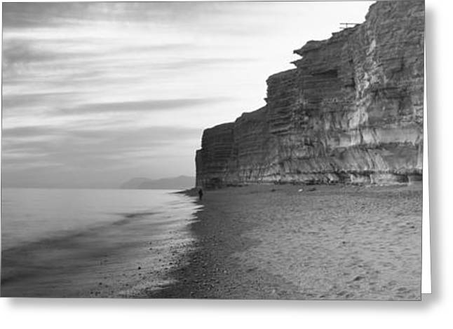 Rock Formations On The Beach, Burton Greeting Card
