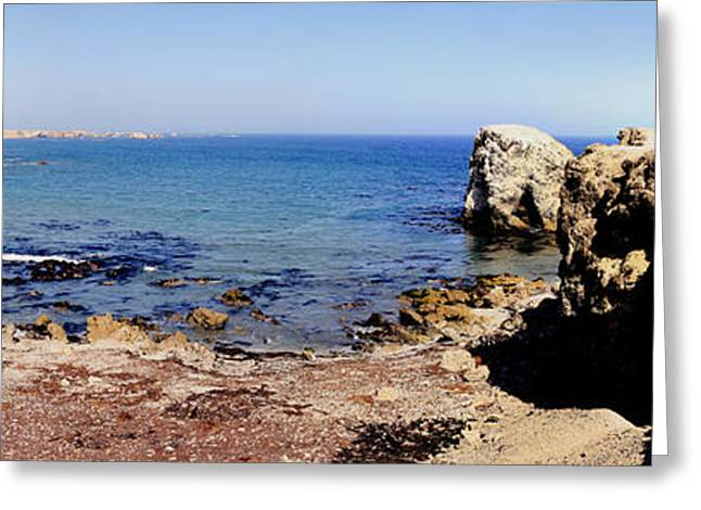 Rock Formations On The Beach, Marcona Greeting Card by Panoramic Images