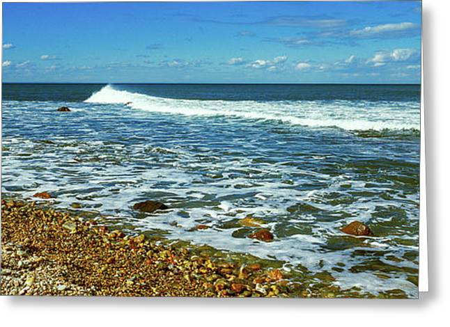 Rock Formations On The Beach, Montauk Greeting Card by Panoramic Images