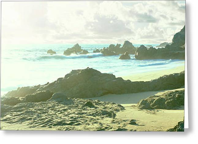 Rock Formations On The Beach, Pacific Greeting Card