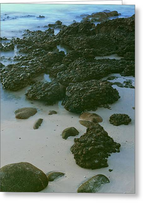 Rock Formations On The Beach, Sea Greeting Card by Panoramic Images