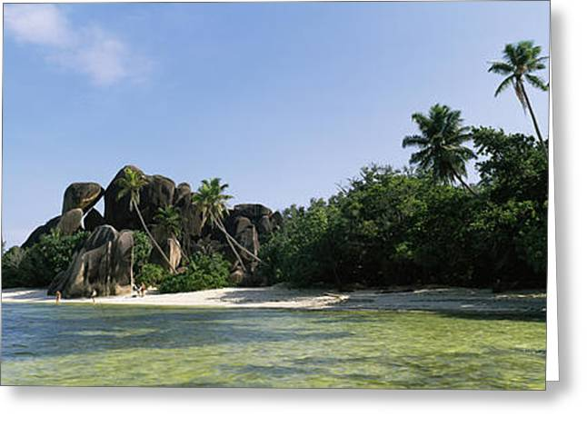 Rock Formations On The Coast, Anse Greeting Card