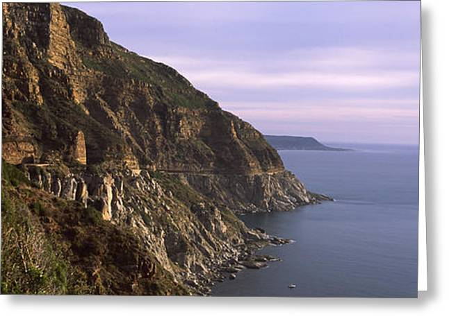 Rock Formations On The Coast, Mt Greeting Card by Panoramic Images