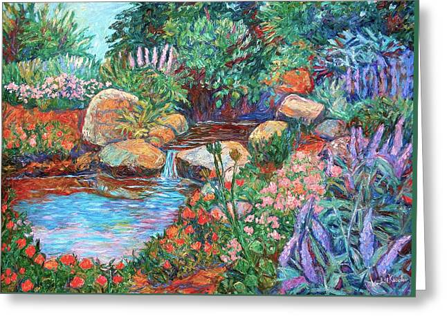 Rock Garden Greeting Card by Kendall Kessler