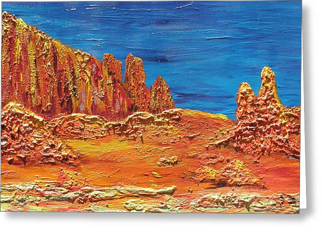 Rock Grove Greeting Card by Marcia Weller-Wenbert