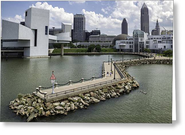 Rock Hall Of Fame On Lake Erie Greeting Card